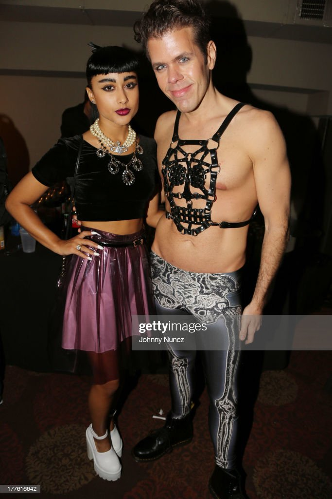 Natalia Kills and Perez Hilton attend Perez Hilton's One Night In Brooklyn at Music Hall of Williamsburg on August 24, 2013 in New York City.