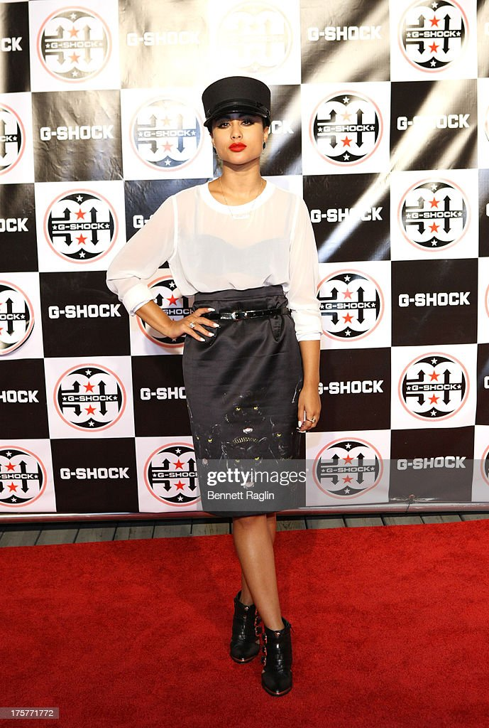 Natalia Kills attends G-Shock - Shock The World 2013 at Basketball City - Pier 36 - South Street on August 7, 2013 in New York City.