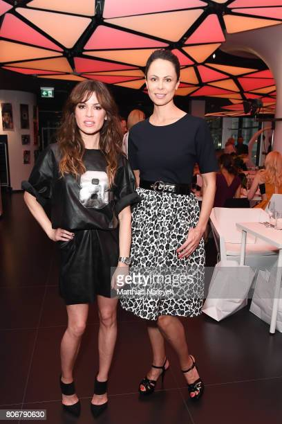 Natalia Klitschko and Natalia Avelon during the Marcell von Berlin 'Genesis' collection presentation on July 3 2017 in Berlin Germany