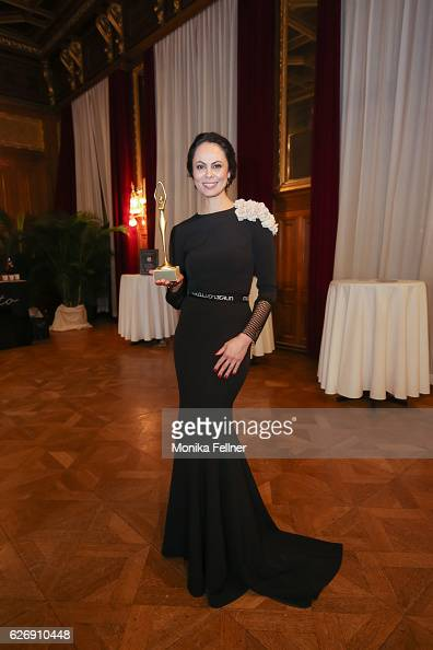 Natalia Klitschko presents her award at the Look Women of the Year Awards at City Hall on November 30 2016 in Vienna Austria