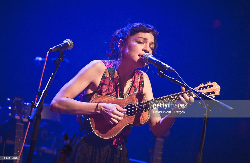 Natalia Lafourcade performs at Cafe de la Danse on April 27, 2012 in Paris, France.