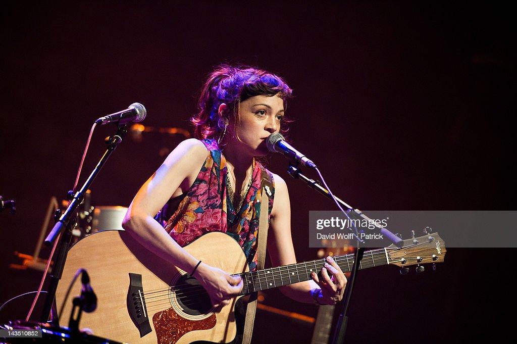 Natalia Lafourcade performs at Cafe de la Danse on April 27, 2012 in Paris, France.