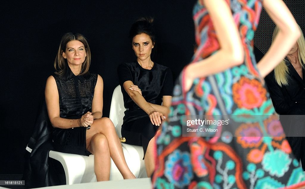 Natalia Massenet and <a gi-track='captionPersonalityLinkClicked' href=/galleries/search?phrase=Victoria+Beckham&family=editorial&specificpeople=161100 ng-click='$event.stopPropagation()'>Victoria Beckham</a> attend the International Woolmark prize grand final during London Fashion Week Fall/Winter 2013/14 at ME Hotel on February 16, 2013 in London, England.