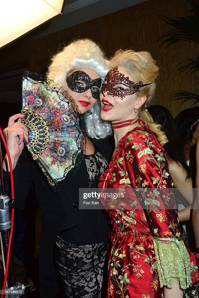Natalia Montana and Jemma Renee Brownless attend the 'Bal Des Princesses 2013' At the Pavillon Royal on April 20, 2013 in Paris, France.