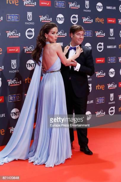 Natalia Oreiro and Carlos Latre attend Platino Awards 2017 at La Caja Magica on July 22 2017 in Madrid Spain