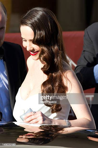 Natalia Oreiro is seen leaving the 'MARTINEZ' hotel on May 22 2012 in Cannes France