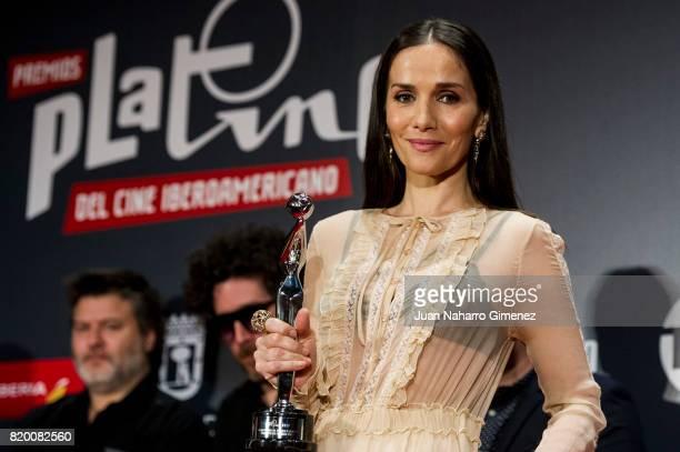 Natalia Oreiro receives 'PLATINO del Publico' award durring Platino Awards 2017 press conference on July 21 2017 in Madrid Spain