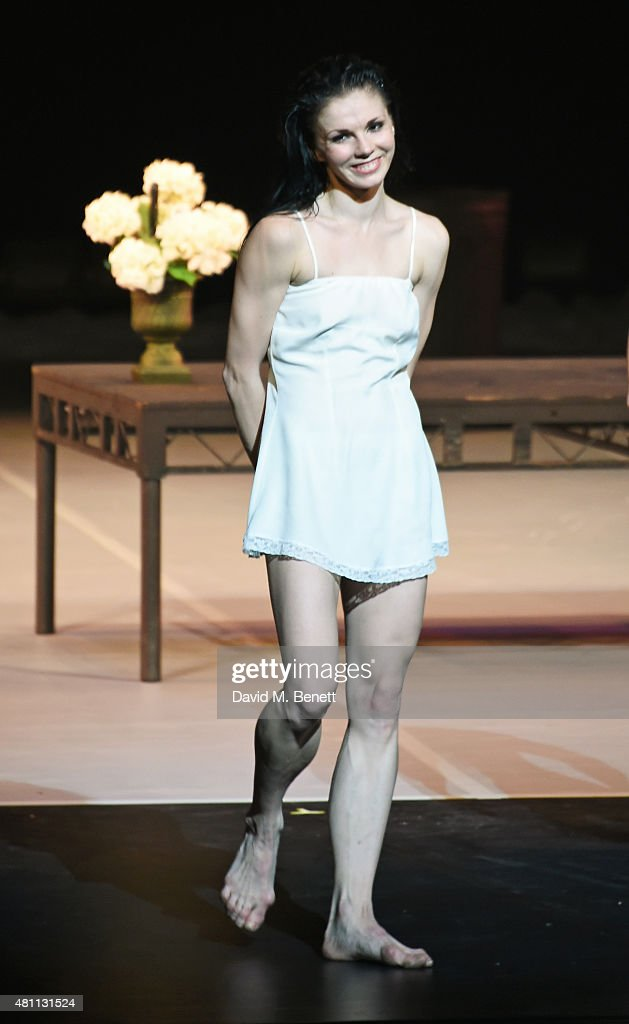 Natalia Osipova bows at the curtain call during the Ardani 25 Dance Gala at The London Coliseum on July 17, 2015 in London, England.