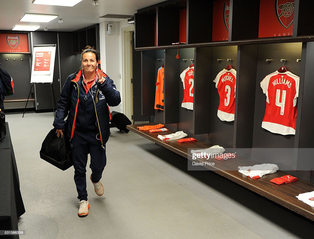 Natalia Pablos Sanchon of Arsenal before the match between Arsenal Ladies and Chelsea Ladies at Wembley Stadium on May 14, 2016 in London, England.