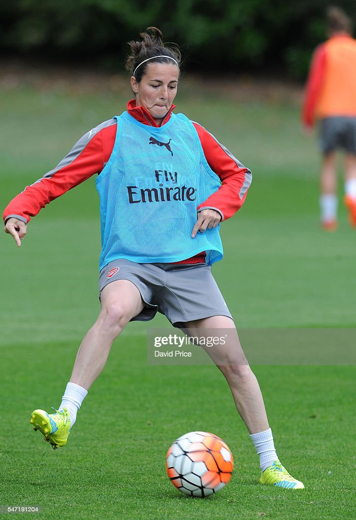Natalia Pablos Sanchon of Arsenal Ladies during their training session on July 13, 2016 in London Colney, England.