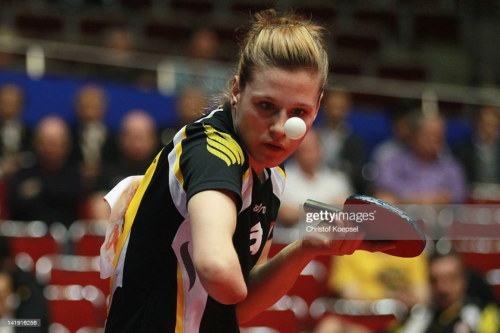 <a gi-track='captionPersonalityLinkClicked' href=/galleries/search?phrase=Natalia+Partyka&family=editorial&specificpeople=5489382 ng-click='$event.stopPropagation()'>Natalia Partyka</a> of Poland of Poland serves during her match against Kasumi Ishikawa of Japan during the LIEBHERR table tennis team world cup 2012 championship division group C women's team match between Japan and Poland at Westfalenhalle Dortmund on March 26, 2012 in Dortmund, Germany. Japan won 3-0 against Poland.