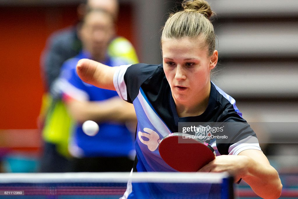<a gi-track='captionPersonalityLinkClicked' href=/galleries/search?phrase=Natalia+Partyka&family=editorial&specificpeople=5489382 ng-click='$event.stopPropagation()'>Natalia Partyka</a>, Poland during the ITTF-European Olympic Qualification Tournament on April 14, 2016 in Halmstad, Sweden.