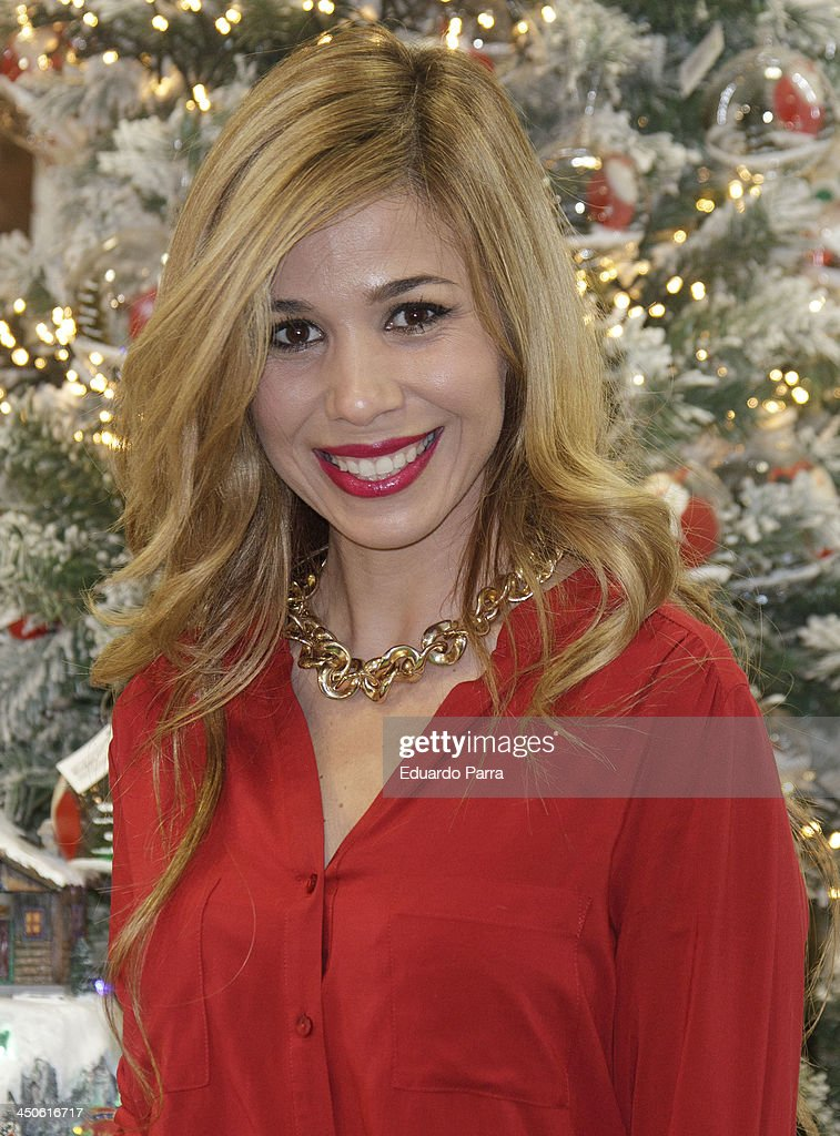 Natalia Rodriguez attends El Corte Ingles Christmas space party photocall at El Corte Ingles store on November 19, 2013 in Madrid, Spain.