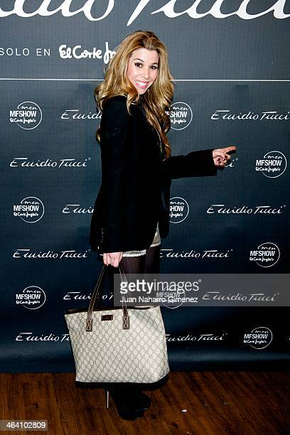 Natalia Rodriguez attends Emidio Tucci new collection presentation at Teatro Calderon on January 20 2014 in Madrid Spain
