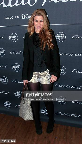 Natalia Rodriguez attends Emidio Tucci new collection presentation on January 20 2014 in Madrid Spain