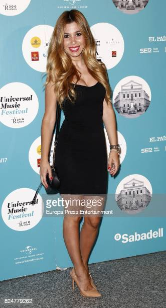 Natalia Rodriguez attends Luis Fonsi concert at the Royal Theatre on July 30 2017 in Madrid Spain