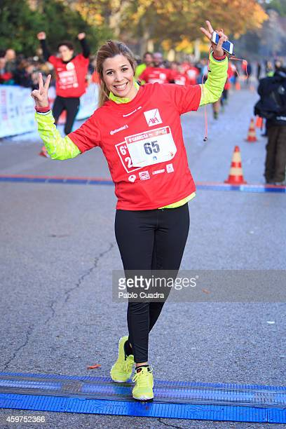 Natalia Rodriguez attends 'Ponle Freno' charity race at El Retiro on November 30 2014 in Madrid Spain