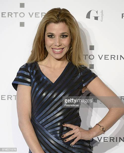 Natalia Rodriguez attends the Roberto Verino new SpringSummer 2016 'Un Balcon al Mar' collection launch at Platea on March 16 2016 in Madrid Spain