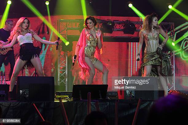 Natalia Rodriguez Nuria Fergo and Gisela Llado perform on stage 'Operacion Triunfo El Reencuentro' Concert at Palau de Sant Jordi on October 31 2016...