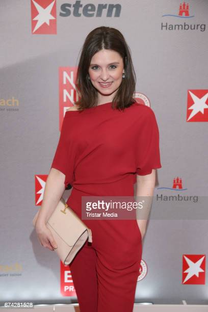 Natalia Rudziewicz during the Henri Nannen Award red carpet arrivals on April 27 2017 in Hamburg Germany