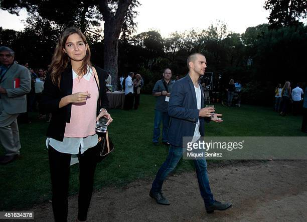 Natalia Sanchez and Marc Clotet attend Kevin Costner's concert during the second 'Festival Jardins de Pedralbes' on July 2 2014 in Barcelona Spain