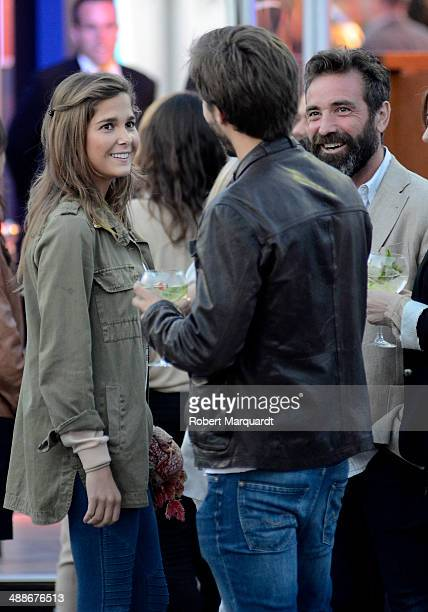 Natalia Sanchez and Marc Clotet attend the 'Martini Racing' inauguration on May 7 2014 in Barcelona Spain