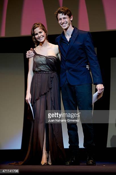 Natalia Sanchez and Nicolas Coronado attend the 18th Malaga Spanish Film Festival ceremony at the Cervantes Theater on April 25 2015 in Malaga Spain