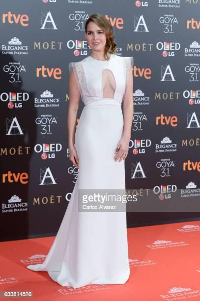 Natalia Sanchez attends Goya Cinema Awards 2017 at Madrid Marriott Auditorium on February 4 2017 in Madrid Spain