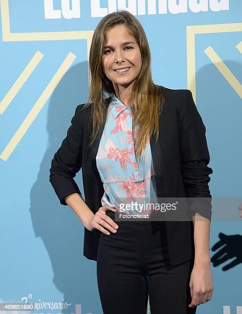 Natalia Sanchez attends 'La Llamada' premiere at the Lara Theater on April 15 2015 in Madrid Spain
