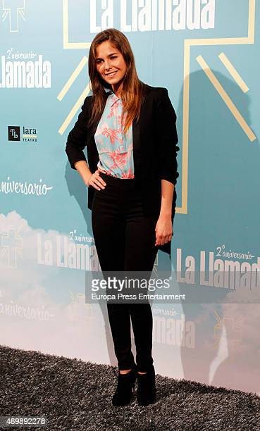 Natalia Sanchez attends 'La Llamada' premiere on April 15 2015 in Madrid Spain