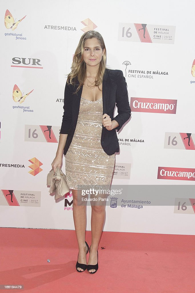 Natalia Sanchez attends Malaga Film Festival party photocall at MOMA 56 disco on April 9, 2013 in Madrid, Spain.
