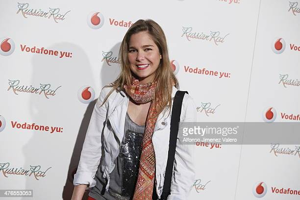 Natalia Sanchez attends Russian Red Concert in Madrid on March 3 2014 in Madrid Spain