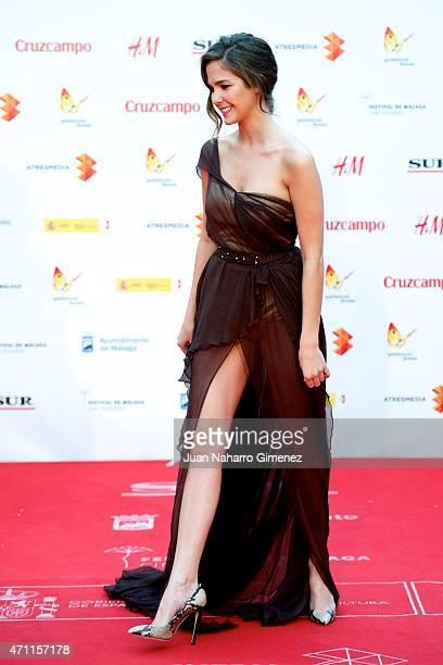 Natalia Sanchez attends the 'Solo Quimica' premiere during the 18th Malaga Spanish Film Festival at the Cervantes Theater on April 25 2015 in Malaga...