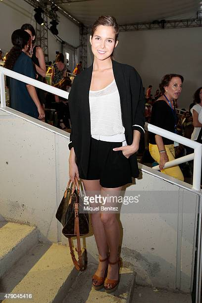 Natalia Sanchez attends the TCN fashion show at 'Barcelona 080 Fashion AutumnWinter 20152016' at the Lluis Companys Olympic Stadium of Barcelona on...