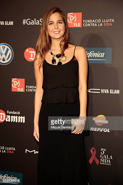 Natalia Sanchez poses during a photocall for 'Fifth Gala Against HIV 2014' at the Museu Nacional d'Art de Catalunya on November 24 2014 in Barcelona...