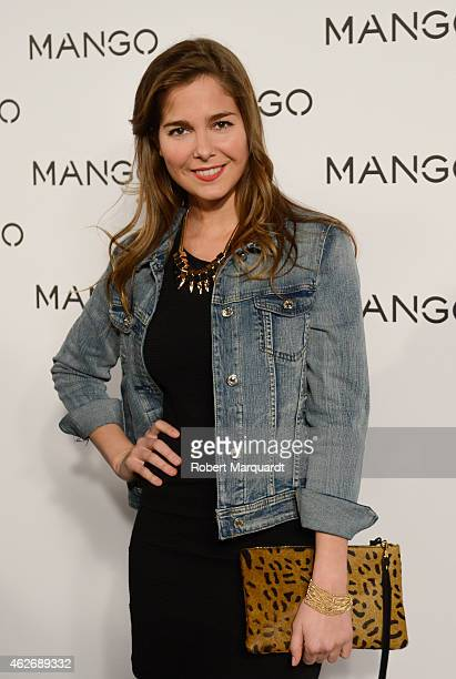 Natalia Sanchez poses during a photocall for the Mango fashion show at '080 Barcelona Fashion Week 2015 Fall/Winter collection' on February 2 2015 in...