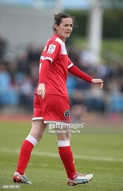 Natalia Sanchon of Bristol Academy Women in action during the FA WSL 1 match between Manchester City Women and Bristol Academy Women at Manchester...