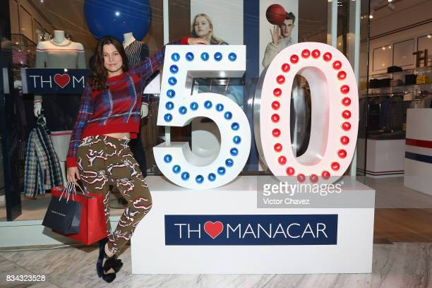 Natalia Subtil attends the Tommy Hilfiger Mexico City store opening at Torre Manacar on August 17 2017 in Mexico City Mexico