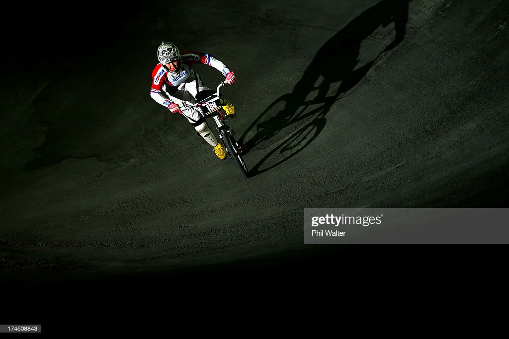 Natalia Suvorova of Russia competes in the Junior Women Time Trial during day four of the UCI BMX World Championships at Vector Arena on July 27, 2013 in Auckland, New Zealand.