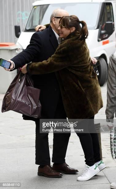 Natalia Verbeke and Antonio Resines are seen on February 23 2017 in Madrid Spain