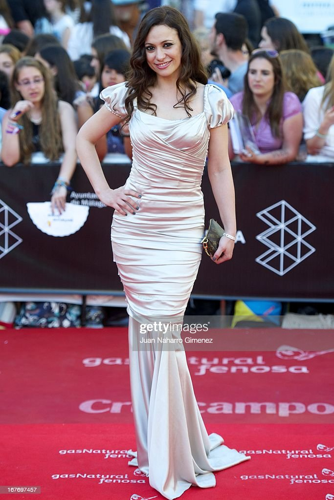 Natalia Verbeke attends 16 Malaga Film Festival ceremony at Teatro Cervantes on April 27, 2013 in Malaga, Spain.