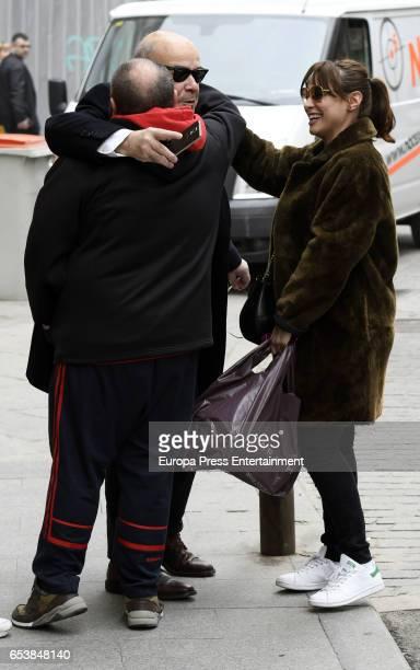 Natalia Verbeke Jorge Calvo and Antonio Resines are seen on February 23 2017 in Madrid Spain