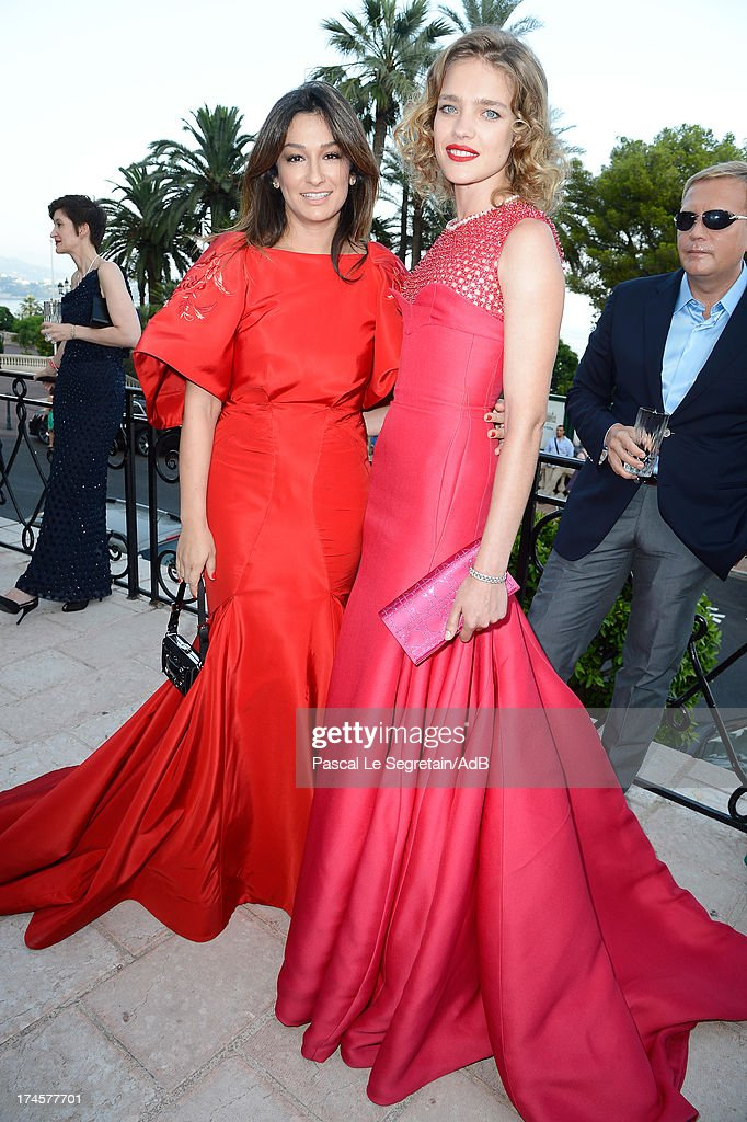 <a gi-track='captionPersonalityLinkClicked' href=/galleries/search?phrase=Natalia+Vodianova&family=editorial&specificpeople=203265 ng-click='$event.stopPropagation()'>Natalia Vodianova</a> (R) and Aizel Trudel attend cocktail at 'Love Ball' hosted by <a gi-track='captionPersonalityLinkClicked' href=/galleries/search?phrase=Natalia+Vodianova&family=editorial&specificpeople=203265 ng-click='$event.stopPropagation()'>Natalia Vodianova</a> in support of The Naked Heart Foundation at Opera Garnier on July 27, 2013 in Monaco, Monaco.