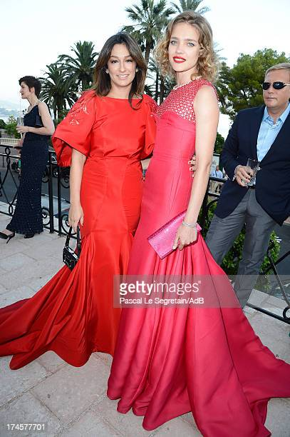 Natalia Vodianova and Aizel Trudel attend cocktail at 'Love Ball' hosted by Natalia Vodianova in support of The Naked Heart Foundation at Opera...