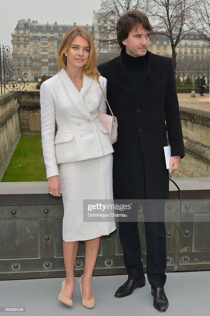 Natalia Vodianova and Antoine Arnault arrive at the Christian Dior Fall/Winter 2013 Ready-to-Wear show as part of Paris Fashion Week on March 1, 2013 in Paris, France.