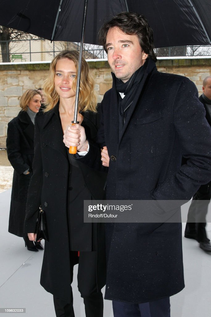 Natalia Vodianova and Antoine Arnault arrive to attend the Christian Dior Spring/Summer 2013 HauteCouture show as part of Paris Fashion Week at on...