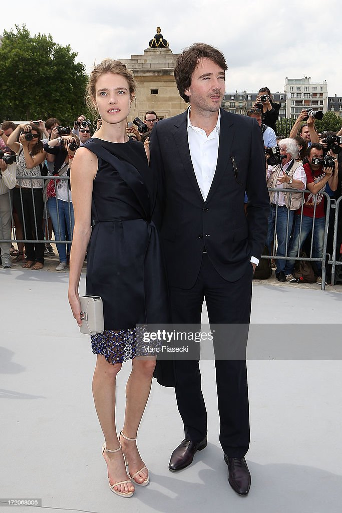 Natalia Vodianova and Antoine Arnault arrive to attend the Christian Dior show as part of Paris Fashion Week Haute Couture Fall/Winter 2013-2014 at on July 1, 2013 in Paris, France.