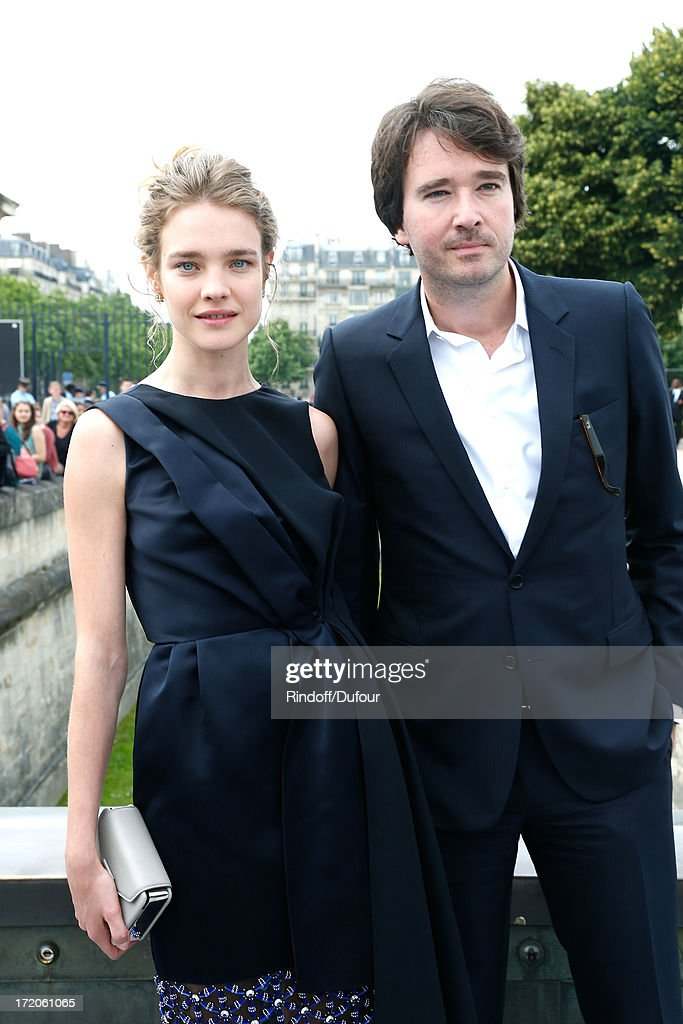 Natalia Vodianova and Antoine Arnault arriving at the Christian Dior show as part of Paris Fashion Week Haute-Couture Fall/Winter 2013-2014 at on July 1, 2013 in Paris, France.