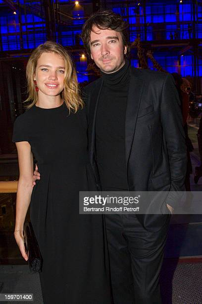 Natalia Vodianova and Antoine Arnault attend the Berluti Men Autumn / Winter 2013 presentation at the Great Gallery of Evolution in the National...