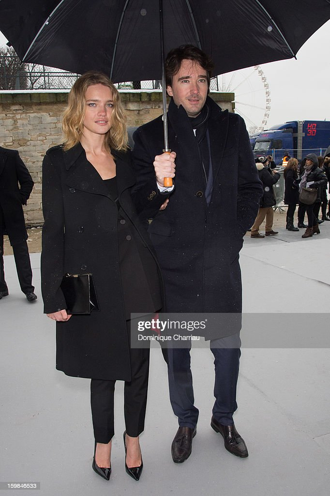 Natalia Vodianova and Antoine Arnault attend the Christian Dior Spring/Summer 2013 Haute-Couture show as part of Paris Fashion Week at on January 21, 2013 in Paris, France.
